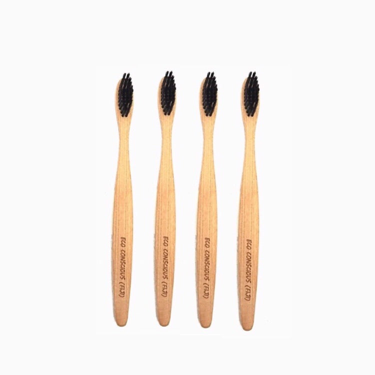 Bamboo Toothbrush (Black bristles)