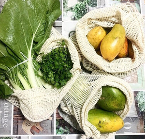 Organic Cotton Produce bags  - Medium Size 3 Pack
