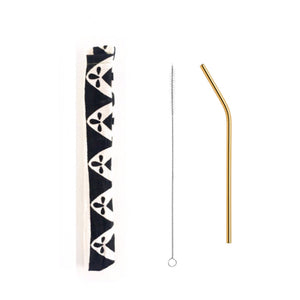 Gold Stainless Steel Straw Kit 8mm