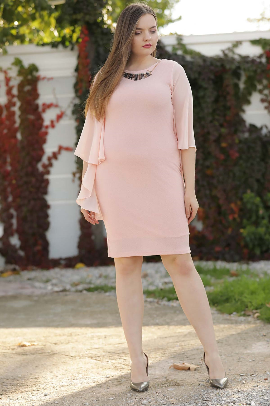 Big Size Powder Rose Dress