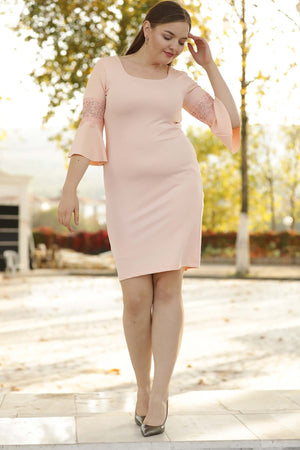 Oversize Powder Rose Dress