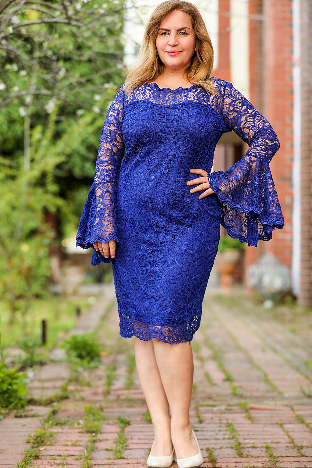 Big Size Blue Dress