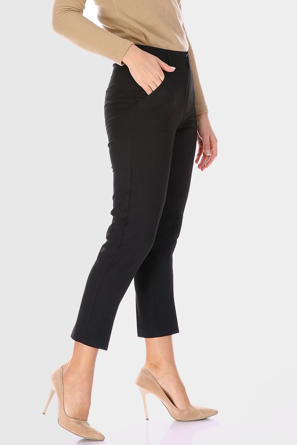 Women's Basic Polyviscose Ankle Pants