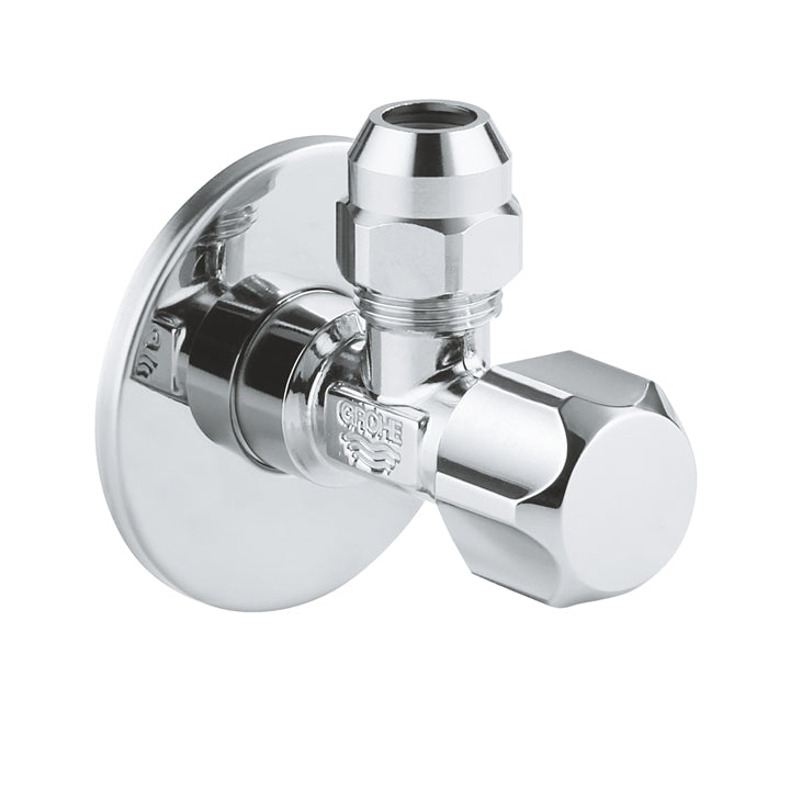 Grohe Angle valve entrance 1/2inch & outlet 3/8inch Plastic in Chrome