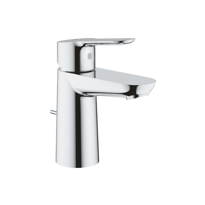 "Grohe 'BauEdge' Single-lever Basin Mixer 1/2"" Small in Chrome"