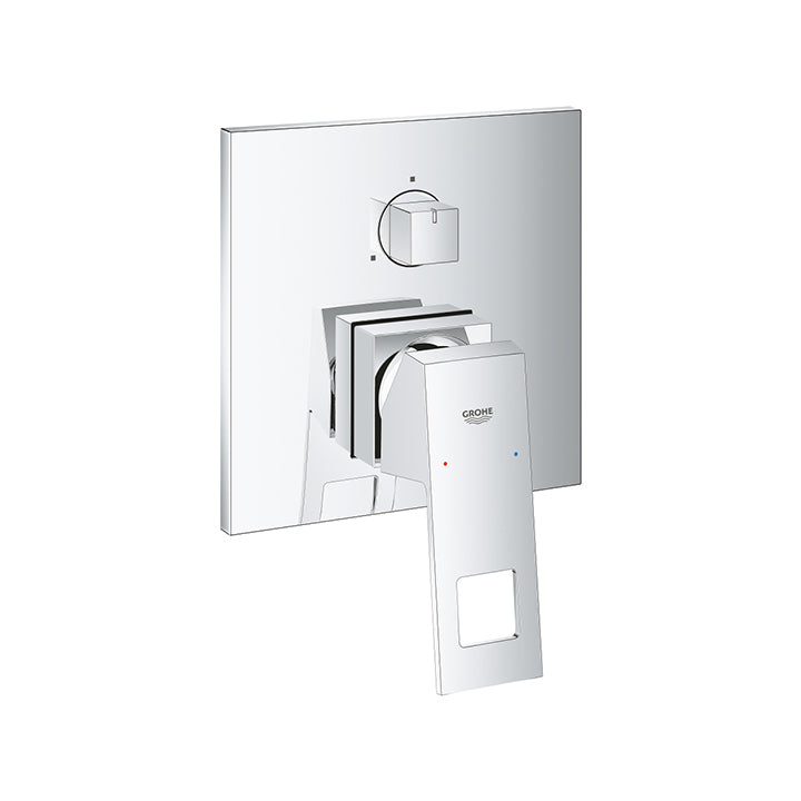 Grohe 'Eurocube' Single-lever Mixer with 3-way Diverter in Chrome
