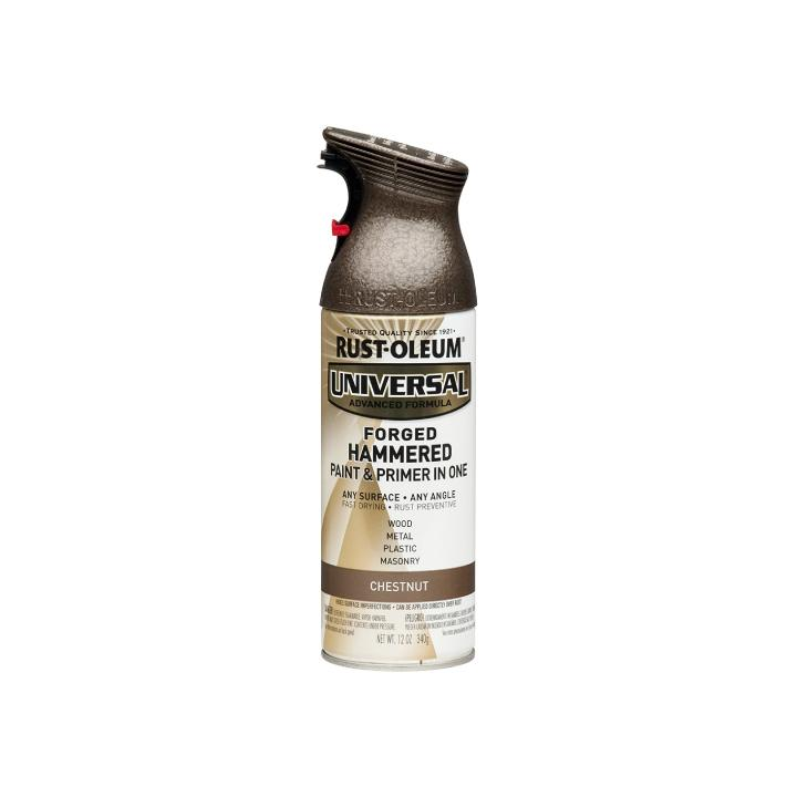 Rust-Oleum Universal 12 Ounce 355mL Hammered FORGED Metal Chestnut Spray