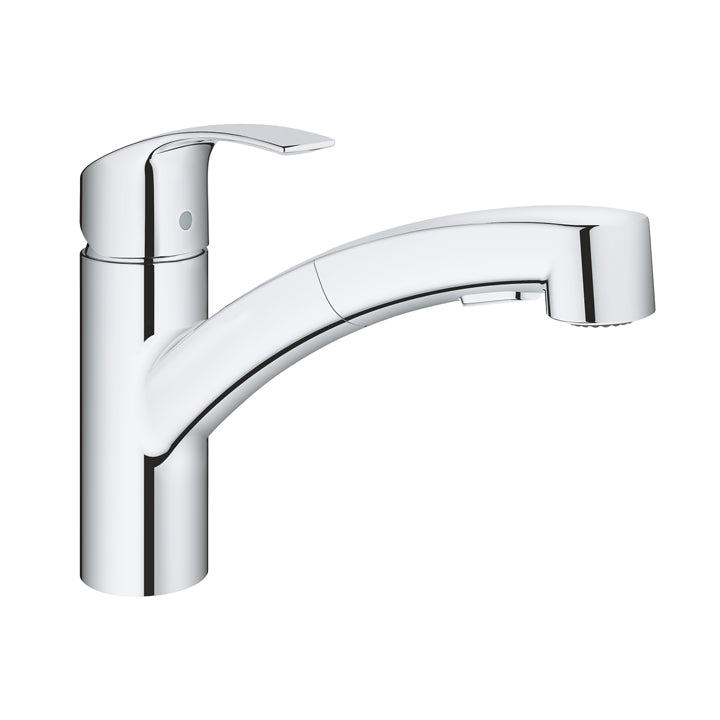 Grohe 'Eurosmart' Single-lever Sink Mixer 1/2″ low spout in Chrome