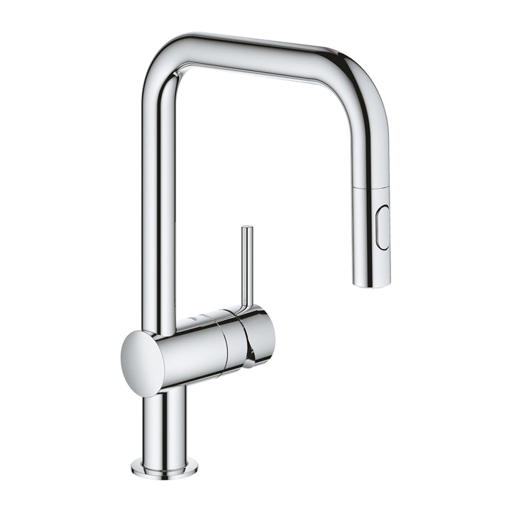 Grohe 'Minta' Single-lever Sink Mixer 1/2″ U-spout in Chrome