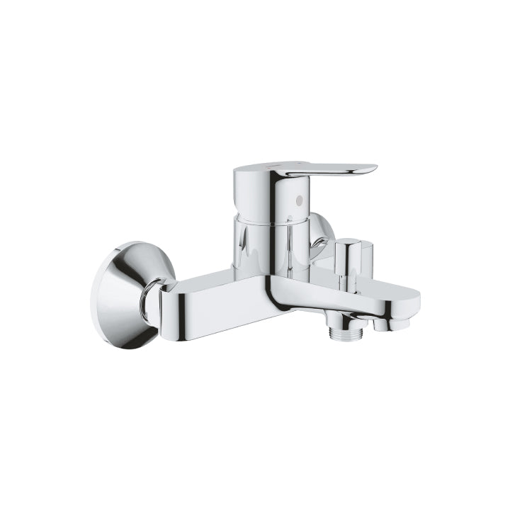 "Grohe 'BauEdge' Single-lever Bath Mixer 1/2"" in Chrome"