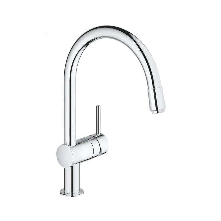 Grohe 'Minta' Single-lever Kitchen Mixer 1/2″ C-spout in Chrome