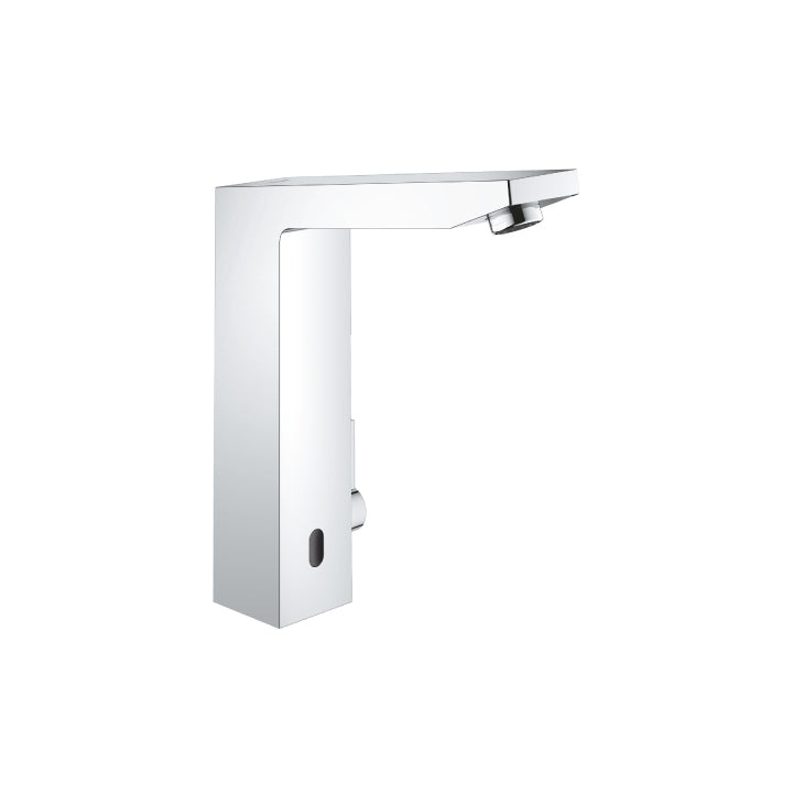 "Grohe 'Eurocube E' Infra-red Electronic Basin Mixer 1/2"" with Mixing Device and Adjus..."