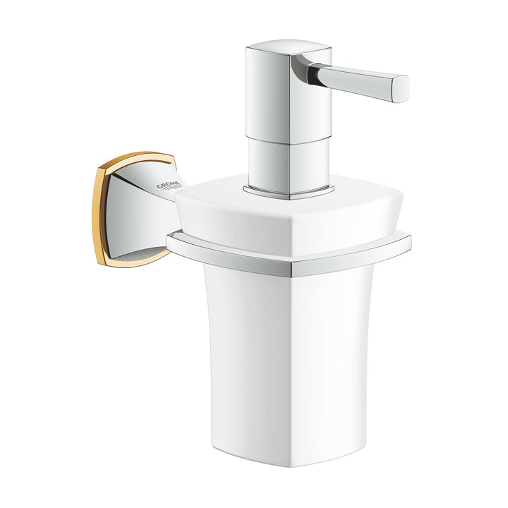 Grohe 'Grandera' Wall Mounted Holder With Ceramic Soap Dispenser