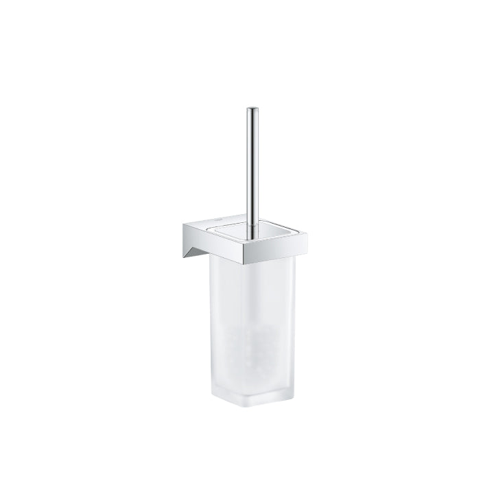 Grohe 'Selection cube' Toilet brush set in Chrome
