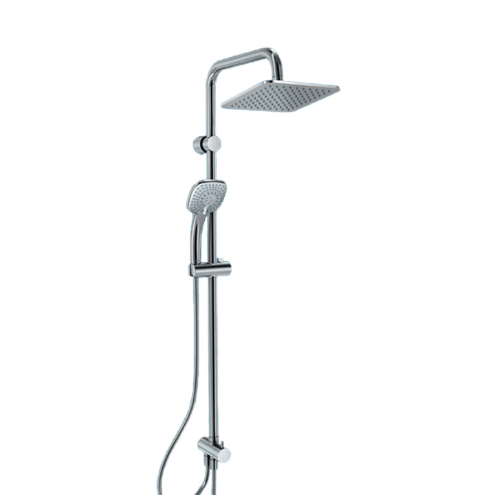 Shower - Cupe ideal rain shower set with square head shower 20cm + 3 function square handspray 10cm + 175cm hose