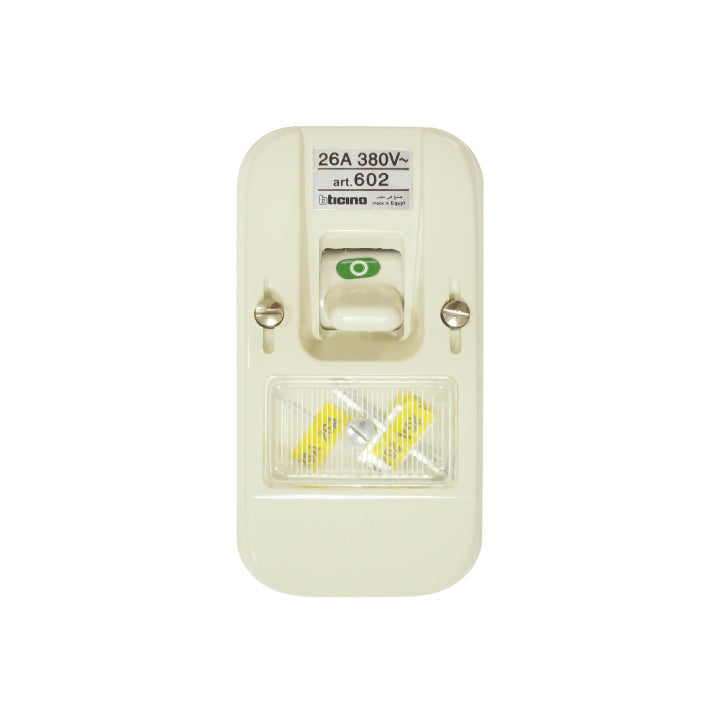 Bticino - Fuse switch  380V a.c. - with 26 A - Two Poles - Fuses with spare fuse hold...
