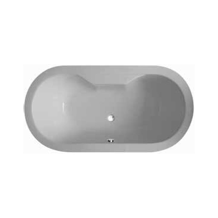 Duravit 'Tonga Oval' Whirltub with 8 Water and 16 Air Jets in White