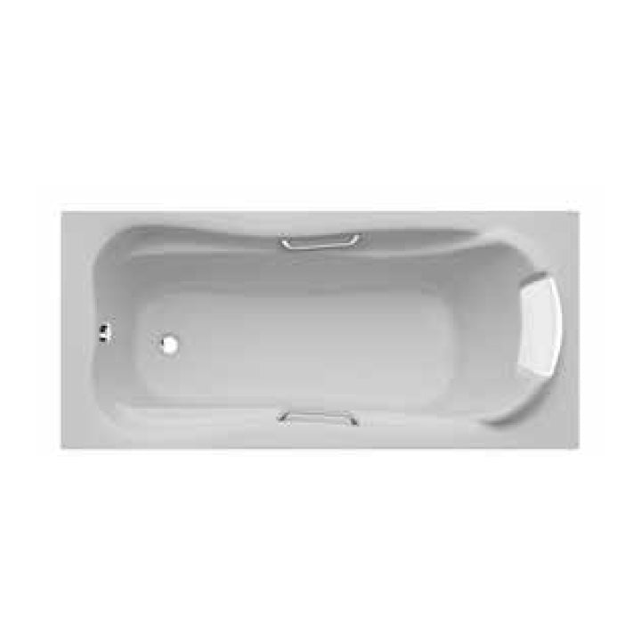 Duravit 'Jamaica' Whirltub with Headrest, Handgrip, and 8 Water Jets in White