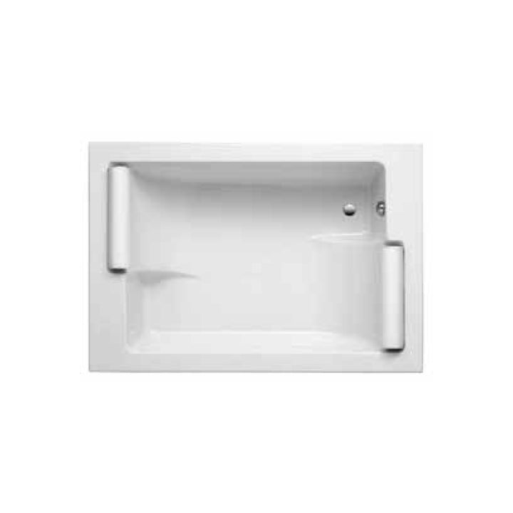 Duravit 'Florence' Whirltub with Headrests and 8 Water Jets in White