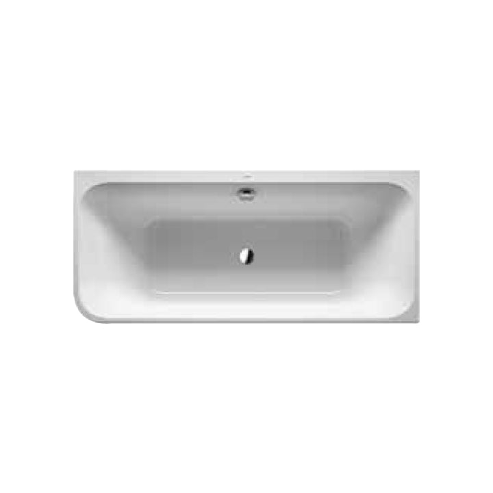 Duravit 'Happy D.2' Whirltub with Integrated Panel and 8 Water Jets in White