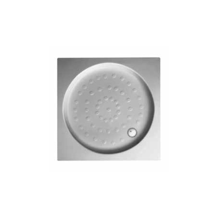 Durvait Shower Trays - Square shower tray integrated panel (round from inside)