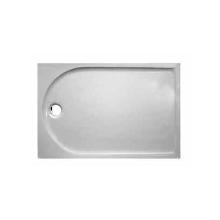 Rectangular shower tray integrated panel with antislip - 1200 x 800 mm
