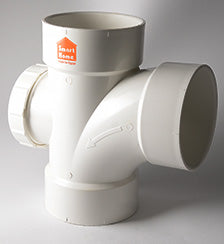 "PVC-U drainage solution fittings - Tee ""90"" / Reducer with access door"
