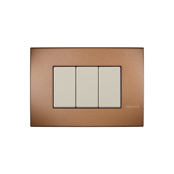 Bticino Metal Cover Plates 3 Modules