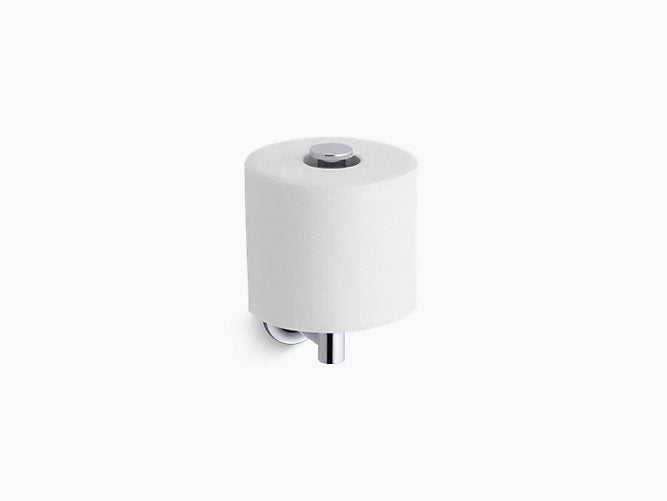 Purist - Vertical toilet tissue holder - Polished chrome