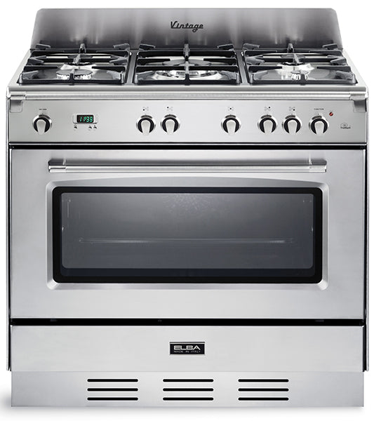 Elba 90cm Gas Cooker in Silver 9DVXX888ICK