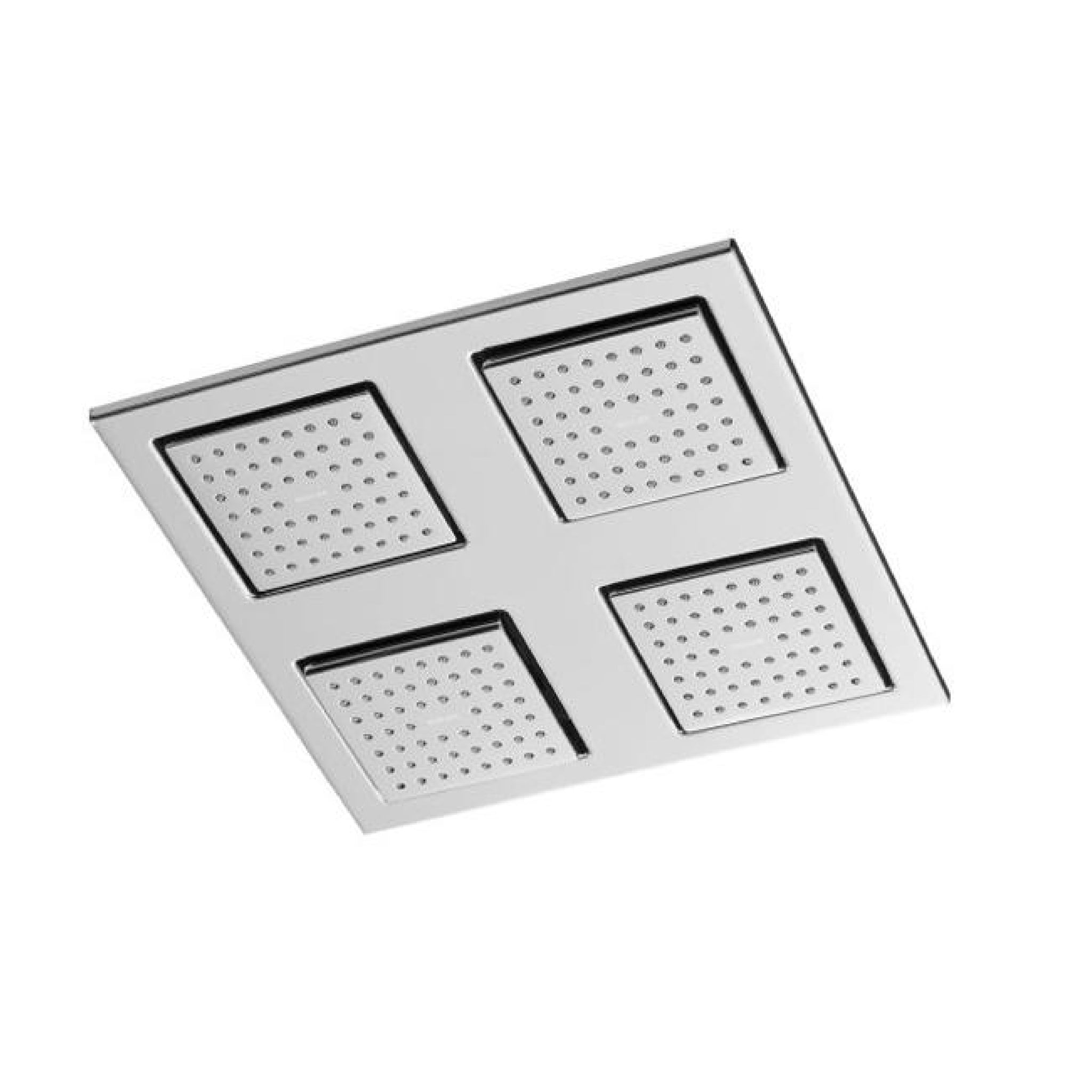 Shower accessory - Over head shower - Water tile - Rain over head square with 54-nozzle shower panel with soothing spray - Polished chrome