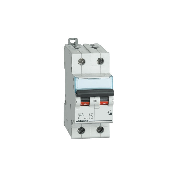 Bticino Circuit Breakers 4.5 K 32 A Two Pole 400 VAC Curva C