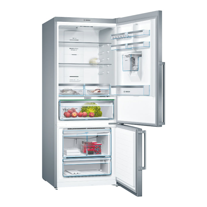 Bosch 'Series 6' Free-Standing Fridge with Bottom Freezer and Anti-fingerprint