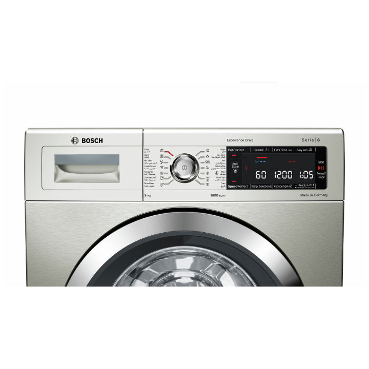 Bosch 'Series 8' 9kg Washing Machine Front Loader -Inox- Easyclean