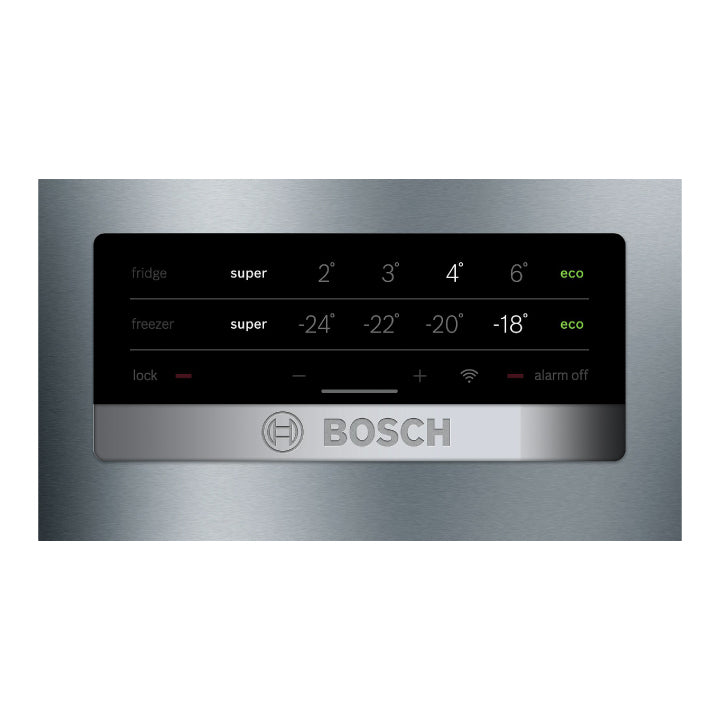 Bosch 'Series 4' No-Frost Free-Standing Fridge with Freezer At Bottom with Anti-finge...