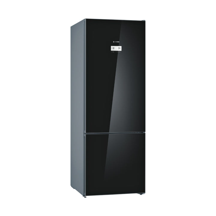 Bosch 'Series 6' Free-Standing Fridge with Freezer At Bottom, Glass Door