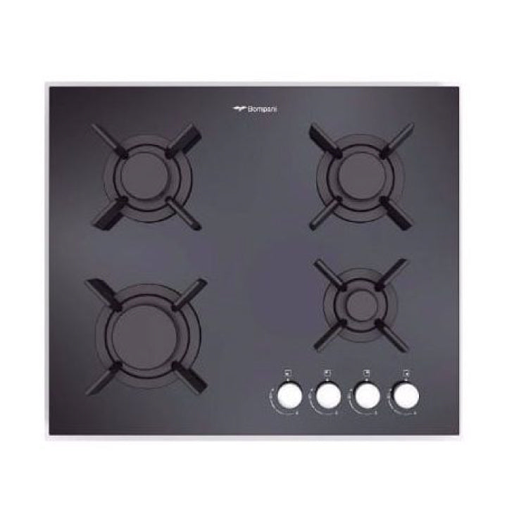 Bompani 60cm Built-in Skyline Gas Hob in Crystal Black