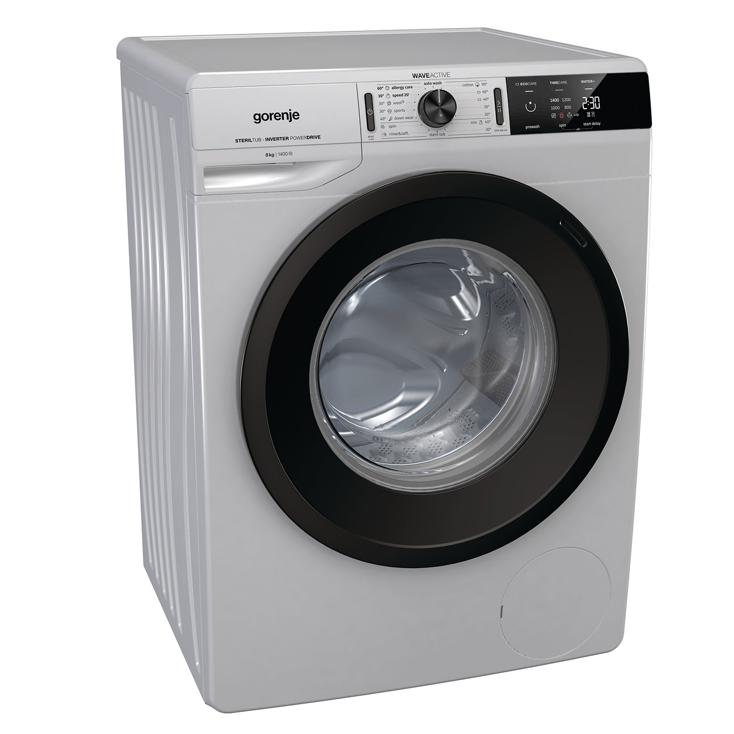 Gorenje 8kg Front Loader Washing Machine in Silver WEI843A