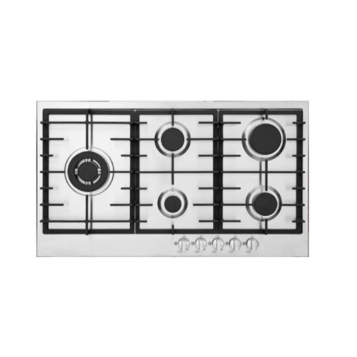 White Westinghouse Built in Gas Hob In Stainless Steel Hob 4 Gas Burners + 1 Double B...
