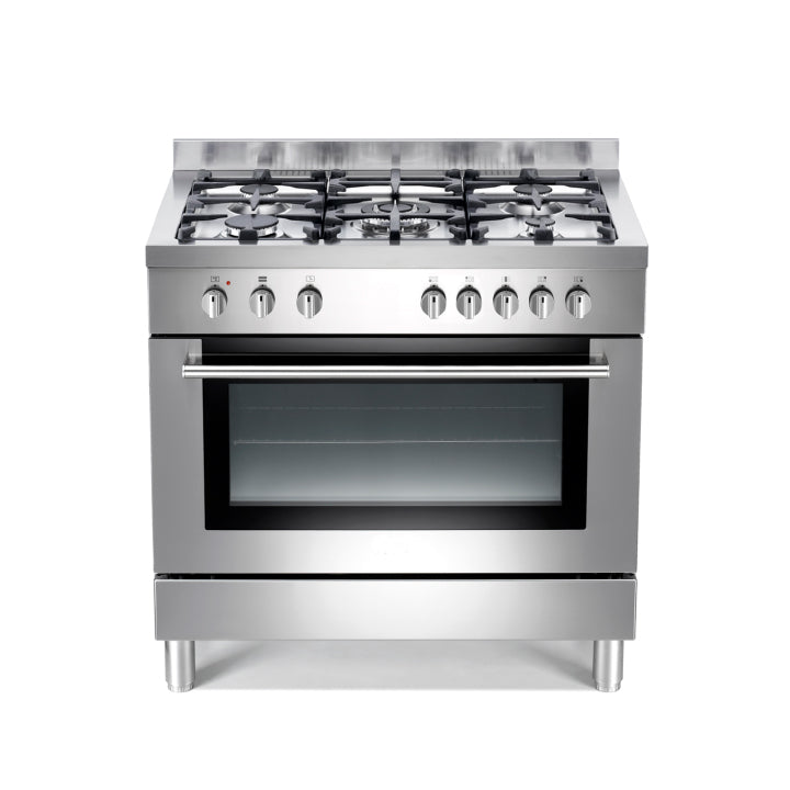 White Westinghouse 90 cm Cooker In Stainless Steel