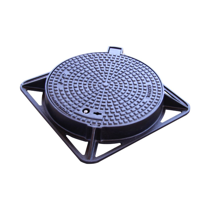 Tawakol - Ductile Iron - Agamy Cover with Hinge(45) & Lock Ø 600 mm D400 - Class D