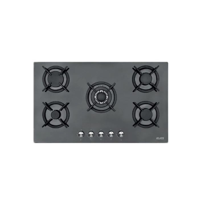 Klass 90cm Built-in Hob Oven in Black Glass