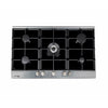 Fagor 90cm Glass Built In Gas Hob in Black With Stainless Steel Frame