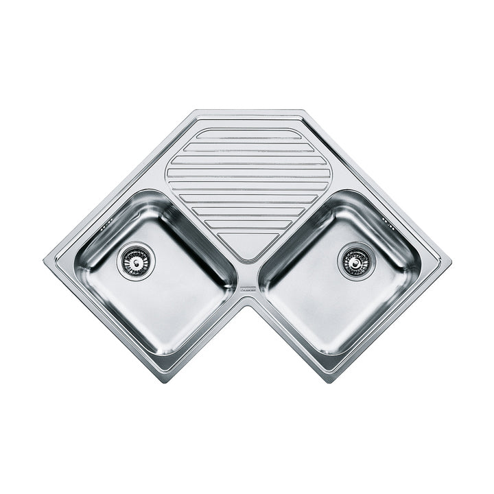 Franke Angolo Corner PNX 621-E Stainless Steel Kitchen Sink 830 x 830 x 500 mm