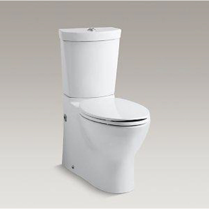 Toilet - Persuade - Skirted two piece elongated dual flush toilet with top actuator - White