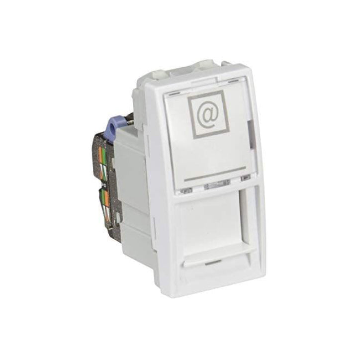 Schneider Electric 'Unica' Cat.6 S/FTP RJ45 Socket with 1 Module in White