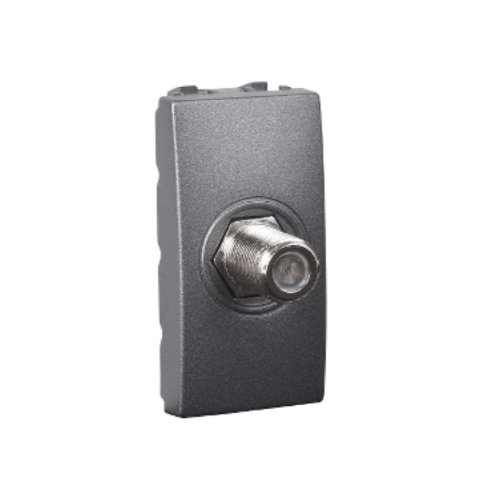 Schneider Electric 'Unica Top/Class' TV Coaxial Outlet with 1 Module in Graphite
