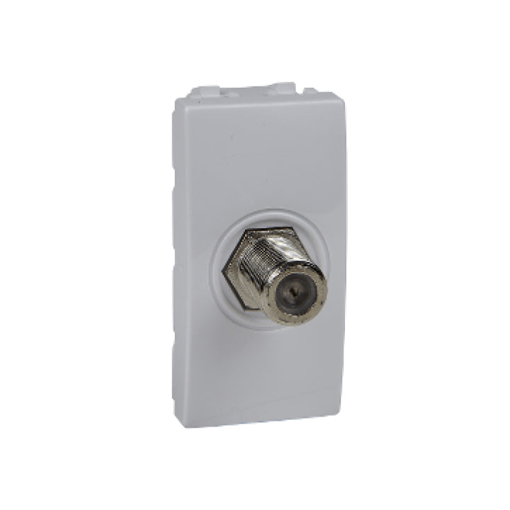 Schneider Electric 'Unica' TV Coaxial Outlet with 1 Module in White