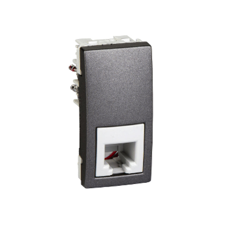Schneider Electric 'Unica Top/Class' 1 RJ11 Telephone Socket in Graphite
