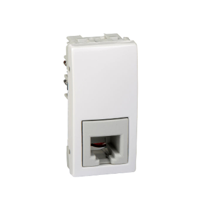 Schneider Electric 'Unica' 1 RJ11 Telephone Socket in White